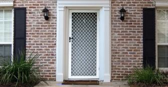 Diamond Grille Security Door