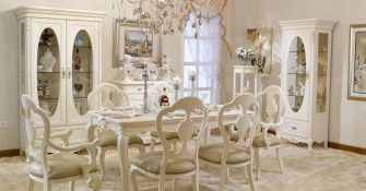 White Provincial Dining Room