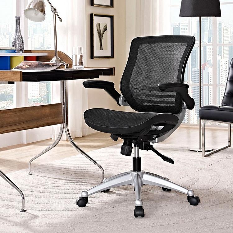 mesh office chair black room