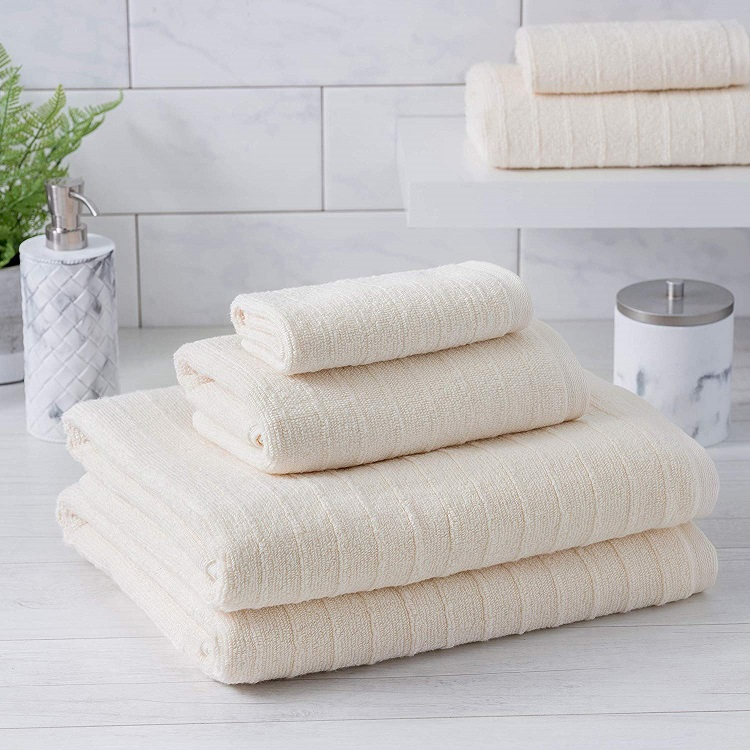 white bamboo cotton towels
