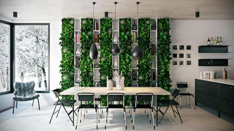 dining-room-greenery