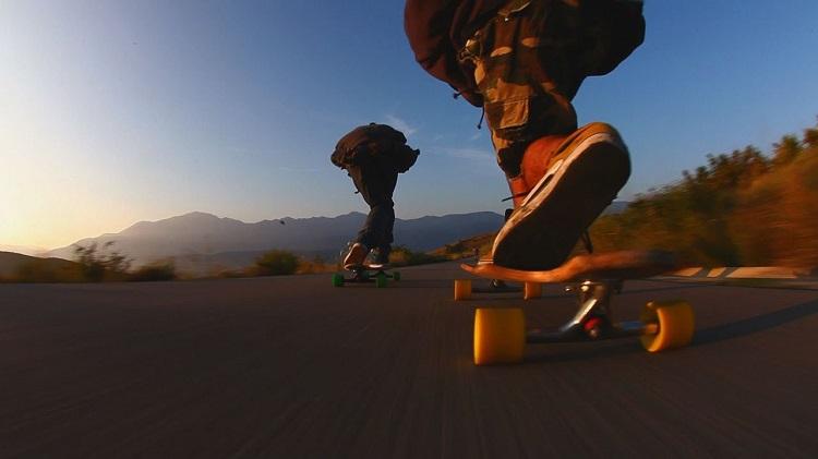Two longboarders