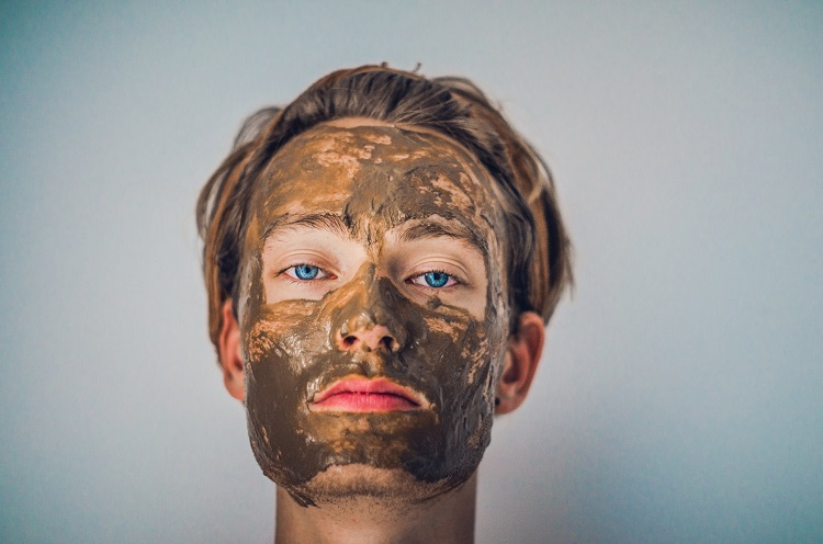 picture of a person with a skincare product on the face