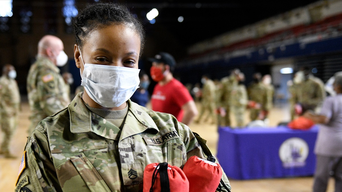 army woman on thanking all who serve event