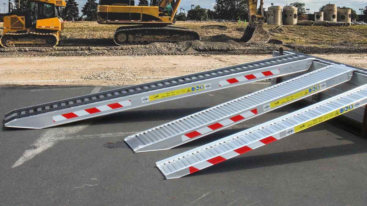 excavator loading ramps